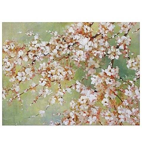 Into the cherry blossom canvas wall art bed bath beyond for Canvas painting of cherry blossoms