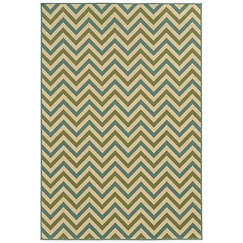 Oriental Weavers Riviera Chevron Indoor/Outdoor Rug - Bed Bath & Beyond