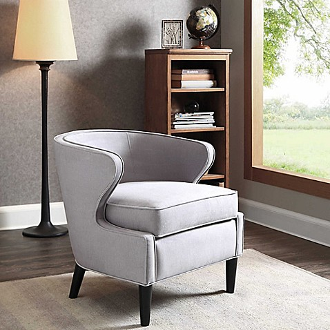 Madison Park Lucca Chair In Silver Grey Bed Bath Amp Beyond