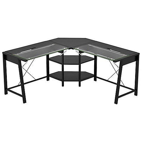 Z Line Designs Vance L Desk In Black Bed Bath Amp Beyond