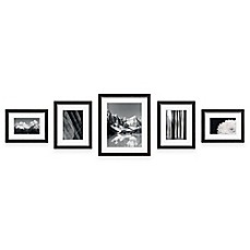 image of swing design 5 piece frame gallery in black
