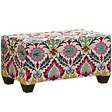 image of Skyline Furniture Storage Bench in Santa Maria Desert Flower