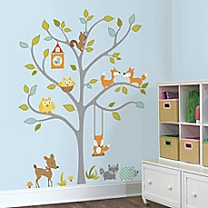 Great Image Of RoomMates Woodland Fox And Friends Tree Giant Peel And Stick Wall  Decals Part 15