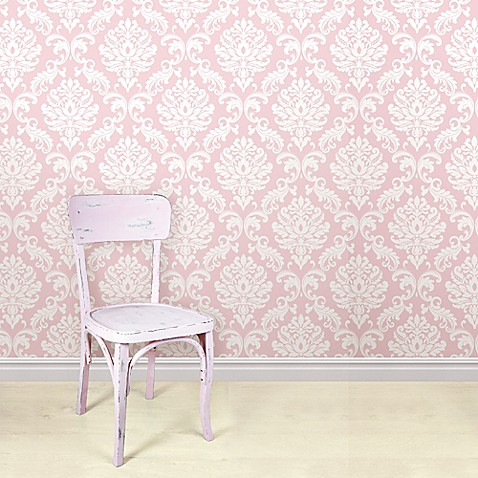 Reg NuWallpapertrade Ariel Peel Stick Wallpaper In Pink