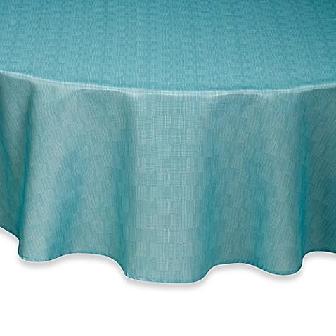 Buy Mason 70 Inch Round Umbrella Tablecloth In Aqua From
