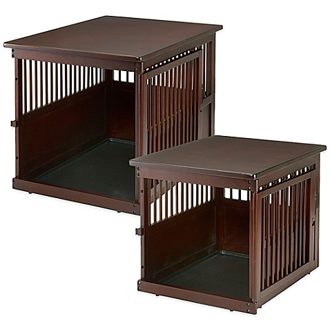 Richell wooden end table crate bed bath beyond for Wooden crate end table