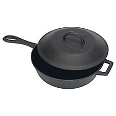 image of Bayou Classic® 3-Quart Cast Iron Covered Skillet