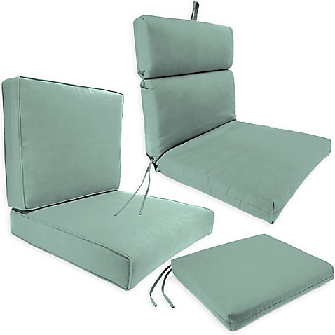 Outdoor Seat Cushion Collection In Sunbrellau0026reg; Canvas Spa  Sunbrella Patio Cushions
