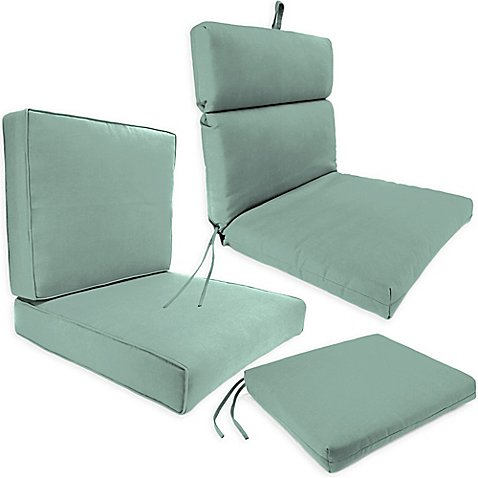 Outdoor Seat Cushion Collection In Sunbrella 174 Canvas Spa