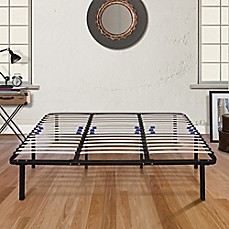 image of E-Rest Wood & Metal Platform Bed Frame