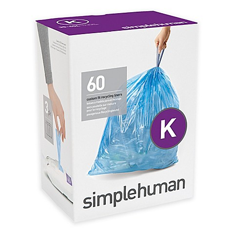 Simplehuman 174 Code K 60 Pack 9 12 Gallon Custom Fit