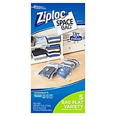 image of Ziploc® Space Bag® 5-Piece Flat Combo Set