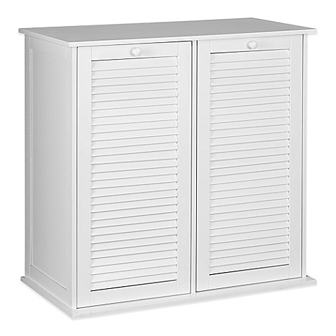 Household Essentialsu0026reg; Tilt Out Laundry Sorter Cabinet With Shutter Front