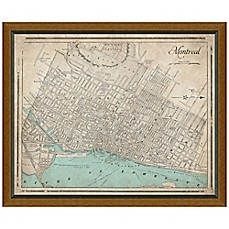 image of Framed Map of Montreal, Canada Wall Décor