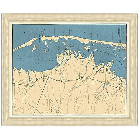 Framed Map of Long Beach Island, NJ Wall Décor - Bed Bath & Beyond