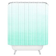 Deny Designs Social Proper Ombre Shower Curtain In Mint