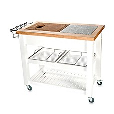 image of chris u0026 chris pro chef kitchen island work station in white