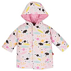 image of Magnificent Baby® Sweet Treats Print Smart Close™ Raincoat in Pink