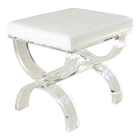 urban modern acrylic vanity bench - Acrylic Bench