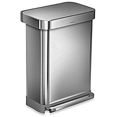Image Of Simplehuman® 55 Liter Rectangular Step Trash Can With Liner Pocket