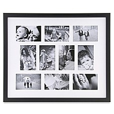 image of 10 photo collage frame in black
