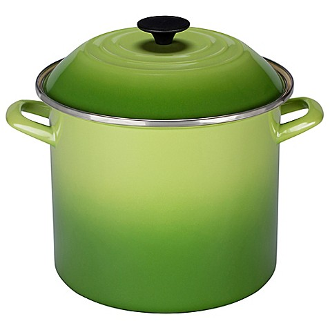 buy le creuset 10 qt stock pot in palm from bed bath beyond. Black Bedroom Furniture Sets. Home Design Ideas