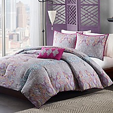 image of Mizone Keisha Comforter Set in Grey