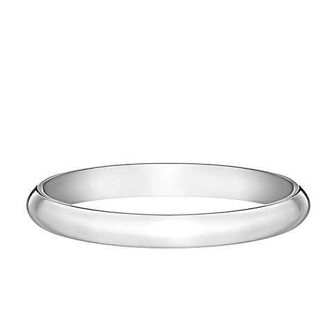 Buy 14K White Gold Size 45 Ladies Traditional Oval 2mm Wedding Band From Bed Bath Amp Beyond