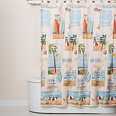 image of Beach Time Shower Curtain