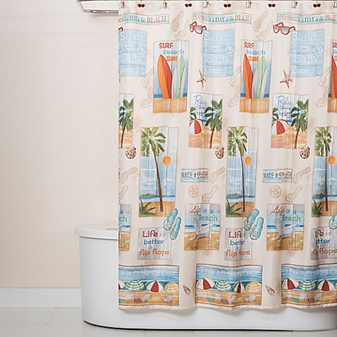 Curtains Ideas bed bath and beyond bathroom curtains : Beach Time Shower Curtain - Bed Bath & Beyond
