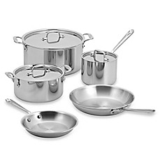 image of All-Clad Stainless Steel 8-Piece Cookware Set