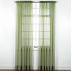image of Elegance Sheer Rod Pocket Window Curtain Panel and Valance
