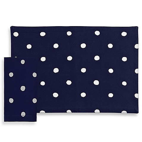 Kate spade new york charlotte street placemat and napkin for Bed bath and beyond kate spade