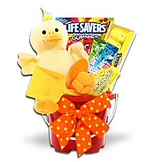 image of Ducky Easter Pail by Alder Creek Gift Baskets