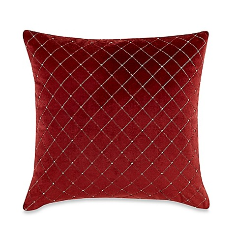 20 Square Throw Pillow Covers : MYOP Quilted Diamond Square Throw Pillow Cover in Red - Bed Bath & Beyond
