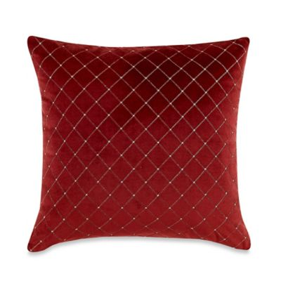 Quilted Decorative Pillow Covers : MYOP Quilted Diamond Square Throw Pillow Cover in Red - Bed Bath & Beyond