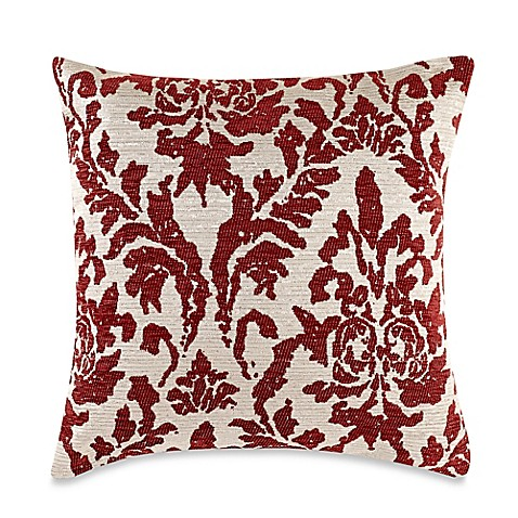 Buy Make-Your-Own-Pillow Venice Square Throw Pillow Cover in Red Chilli from Bed Bath & Beyond
