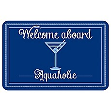 image of Bungalow Flooring 23-Inch x 36-Inch Aquaholic Accent Kitchen Mat