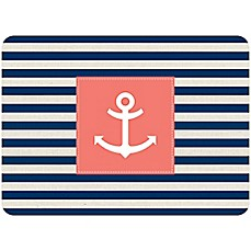 image of Bungalow Flooring 23-Inch x 36-Inch Anchor Stripe Accent Kitchen Mat