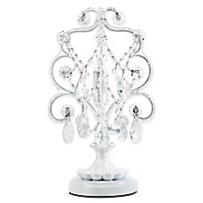 image of Tadpoles™ by Sleeping Partners Mini Chandelier Table Lamp in White Diamond