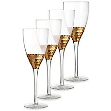 image of Fitz and Floyd® Daphne Red Wine Goblets in Gold (Set of 4)