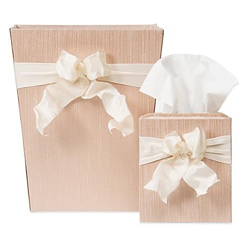Glenna jean florence wastebasket and tissue cover set bed bath beyond - Covered wastebasket ...