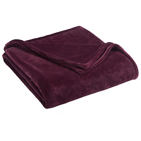 Buy vellux sheared mink twin blanket in fig from bed bath for Vellux blanket