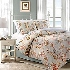 image of Oceanside Cottage Reversible Quilt Set