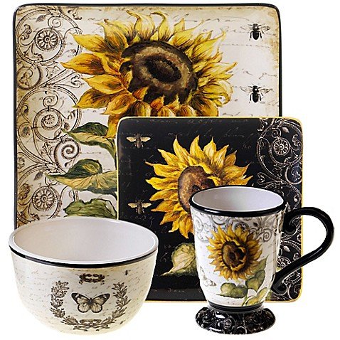 Certified International French Sunflower Dinnerware Collection - Bed ...