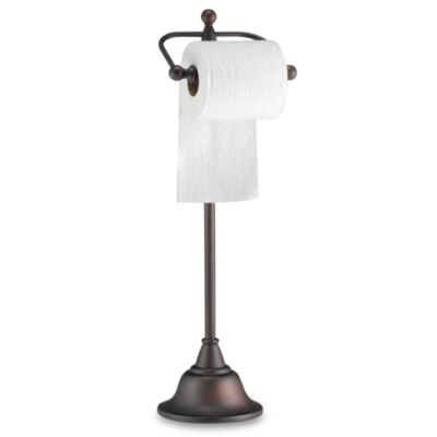 Deluxe Pedestal Oil Rubbed Bronze Toilet Paper Stand Bed Bath