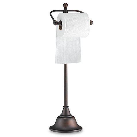 Deluxe Pedestal Oil Rubbed Bronze Toilet Paper Stand Bed