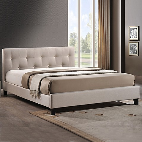 Annette Designer Bed With Upholstered Headboard Bed Bath Beyond