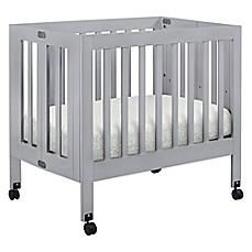 Genial Babyletto Origami Mini Crib In Grey