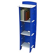 image of Legare® Blue Racer 6-Shelf Tool-Free Bookcase in Blue